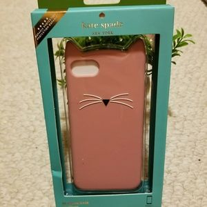 Kate Spade Pink Cat iPhone 7 Sillicone Phone Case